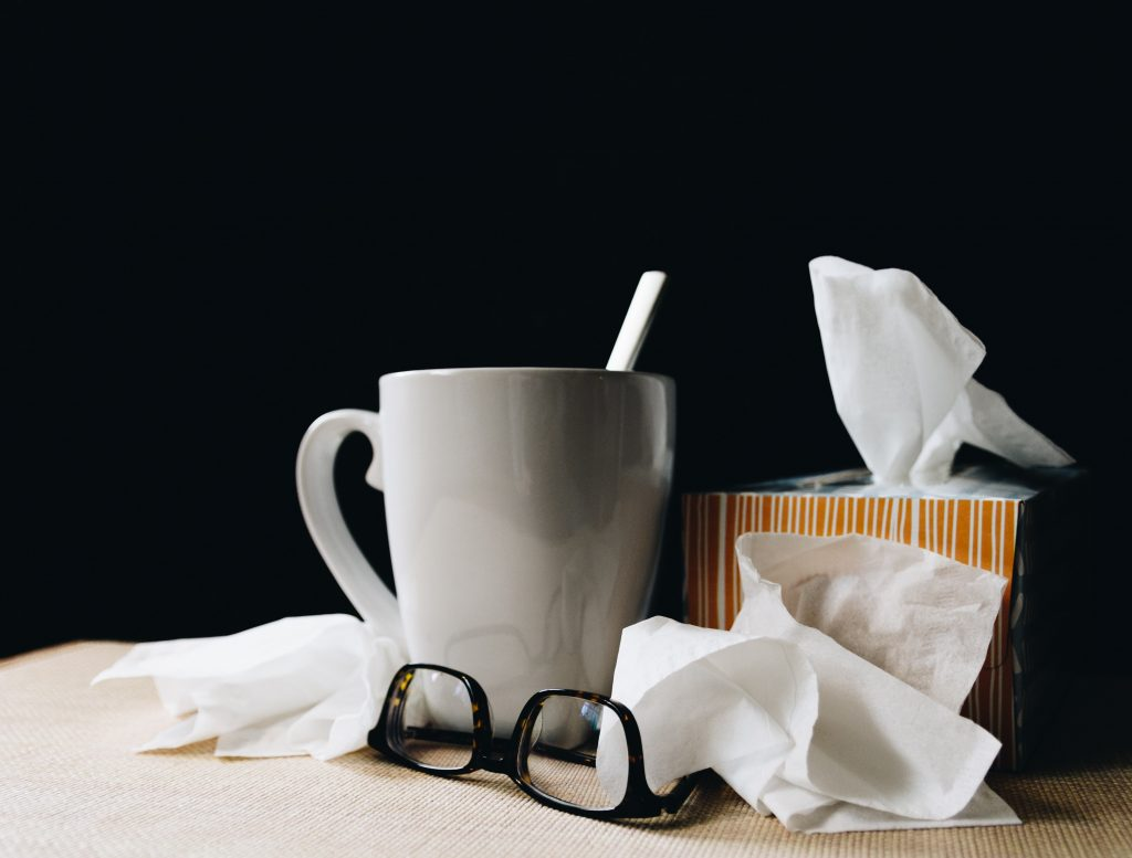 Melbourne CBD and the symptoms of influenza 2019