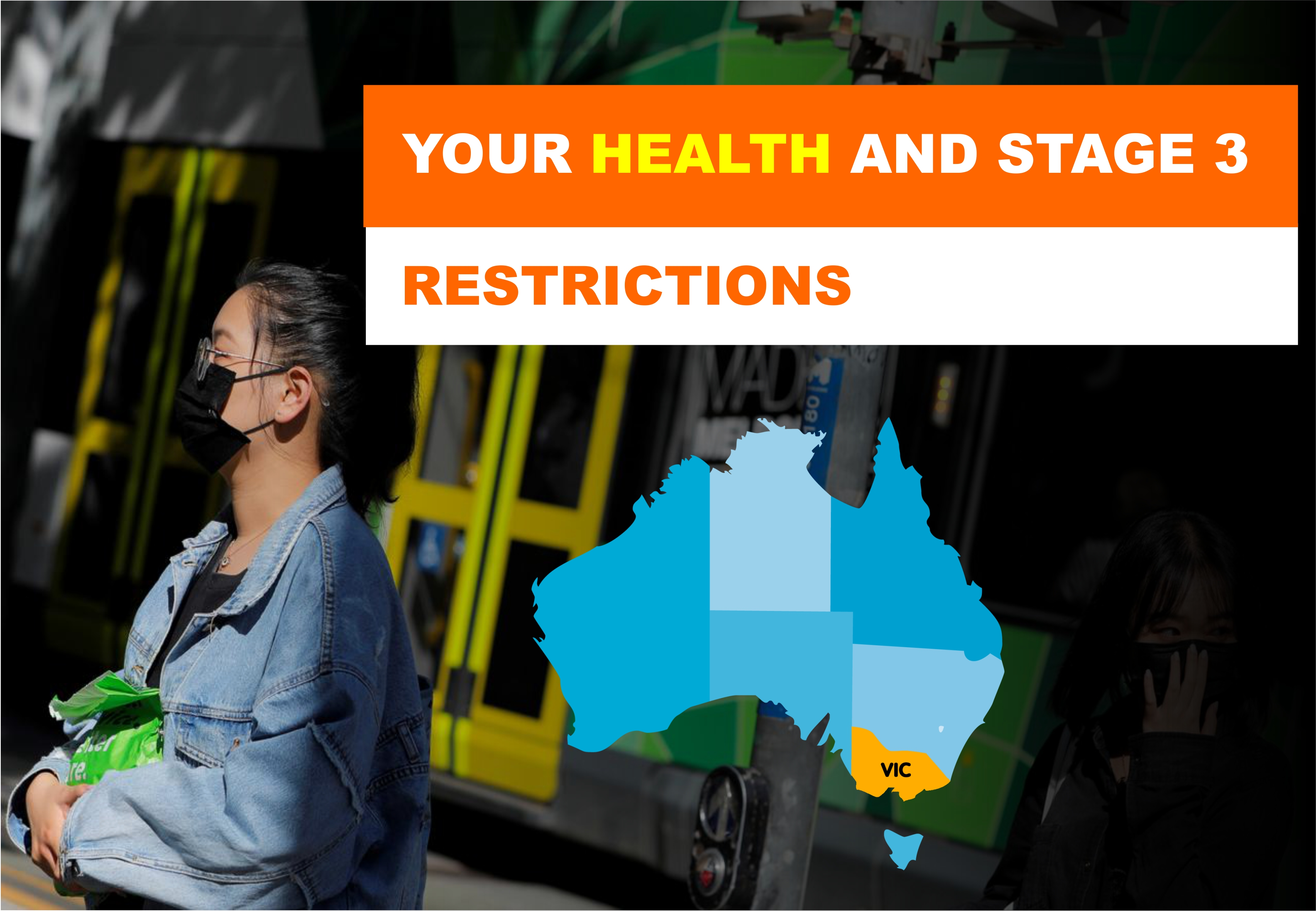 Your HEALTH and stage 3 restrictions in Melbourne
